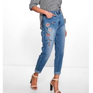 Boohoo Embroidered Jeans